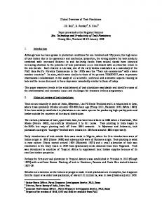 Global Overview of Teak Plantations. J.B. Ball 1, D. Pandey 2, S. Hirai 3