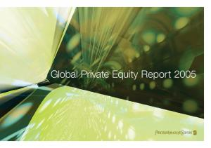 Global Private Equity Report 2005