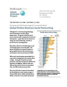 Global Publics Embrace Social Networking