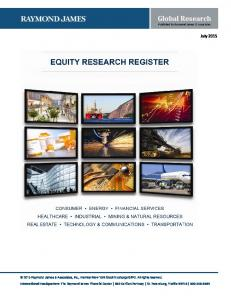 Global Research Published by Raymond James & Associates