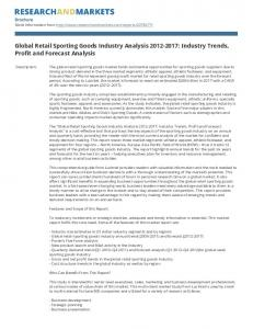 Global Retail Sporting Goods Industry Analysis : Industry Trends, Profit and Forecast Analysis