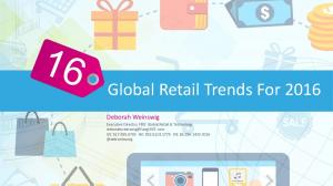 Global Retail Trends For 2016