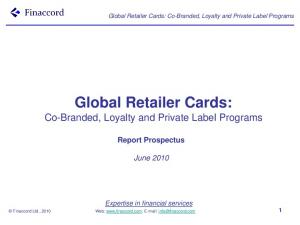 Global Retailer Cards: Co-Branded, Loyalty and Private Label Programs