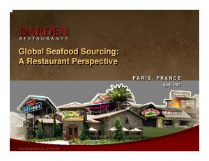 Global Seafood Sourcing: A Restaurant Perspective
