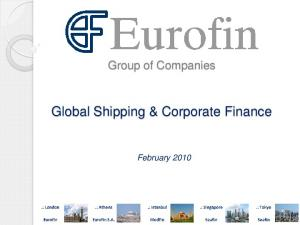 Global Shipping & Corporate Finance