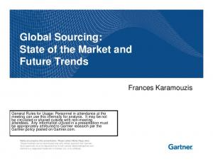 Global Sourcing: State of the Market and Future Trends