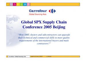 Global SPX Supply Chain Conference 2005 Beijing