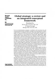 Global strategy: a review and an integrated conceptual framework
