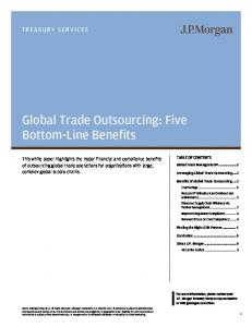 Global Trade Outsourcing: Five Bottom-Line Benefits