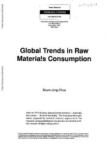 Global Trends in Raw Materials Consumption