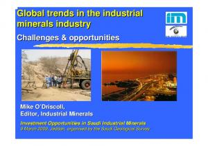 Global trends in the industrial minerals industry