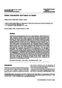 Global urbanization and impact on health