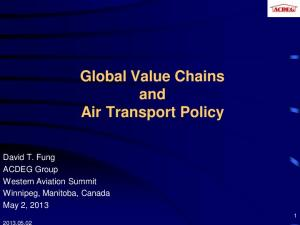 Global Value Chains and Air Transport Policy