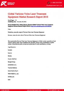 Global Varicose Veins Laser Treatment Equipment Market Research Report 2016