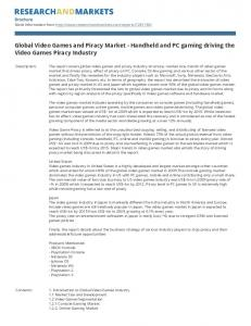 Global Video Games and Piracy Market - Handheld and PC gaming driving the Video Games Piracy Industry