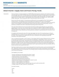 Global Vitamin C Supply Chain and Future Pricing Trends