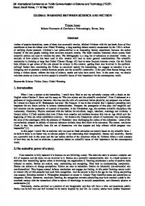 GLOBAL WARMING BETWEEN SCIENCE AND FICTION. Abstract
