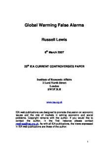 Global Warming False Alarms