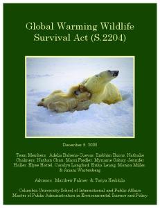 Global Warming Wildlife Survival Act (S.2204)