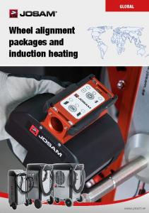 GLOBAL Wheel alignment packages and induction heating