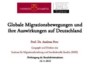 Globale Migrationsbewegungen und ihre Auswirkungen auf Deutschland