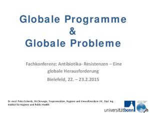 Globale Programme & Globale Probleme