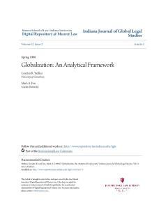 Globalization: An Analytical Framework