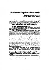Globalization and its Effects on Financial Markets