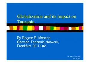 Globalization and its impact on Tanzania