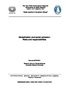 Globalization and social cohesion: Risks and responsibilities