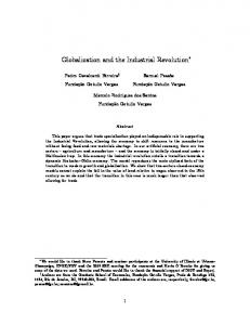 Globalization and the Industrial Revolution