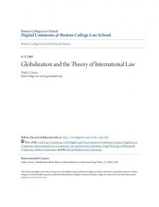 Globalization and the Theory of International Law