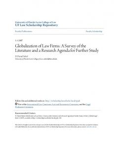 Globalization of Law Firms: A Survey of the Literature and a Research Agenda for Further Study