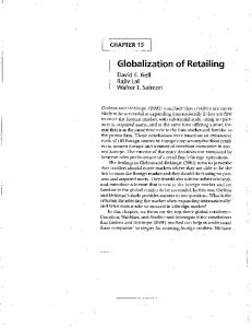 Globalization of Retailing