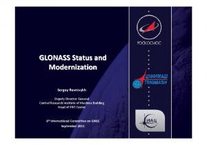 GLONASS Status and Modernization