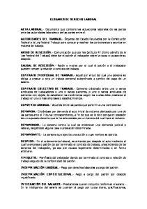 GLOSARIO DE DERECHO LABORAL