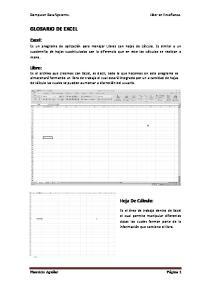 GLOSARIO DE EXCEL. Excel: