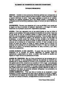GLOSARIO DE TERMINOS DE DERECHO FINANCIERO DERECHO FINANCIERO