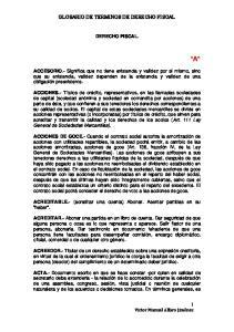 GLOSARIO DE TERMINOS DE DERECHO FISCAL DERECHO FISCAL