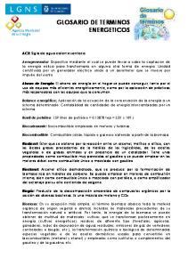 GLOSARIO DE TERMINOS ENERGETICOS