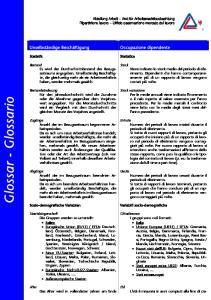 Glossar - Glossario. Abteilung Arbeit Amt für Arbeitsmarktbeobachtung Ripartizione lavoro Ufficio osservazione mercato del lavoro