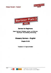Glossary German English