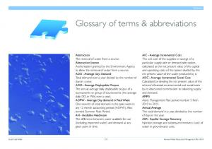 Glossary of terms & abbreviations