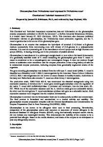 Glucoamylase from Trichoderma reesei expressed in Trichoderma reesei