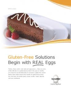 Gluten-Free Solutions Begin with REAL Eggs