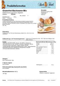 Glutenfrei-Backwaren-Mix Gebäckmischung glutenfrei, tiefgekühlt