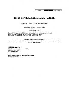 GLYFOS Soluble Concentrate Herbicide