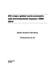 GM crops: global socio-economic and environmental impacts