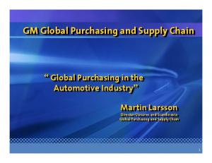 GM Global Purchasing and Supply Chain