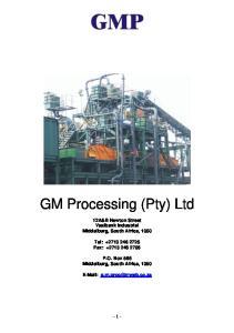 GM Processing (Pty) Ltd
